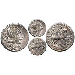 Roman Republic, AR denarius, Q. Minucius Rufus, 122 BC, Rome mint.