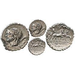 Roman Republic, AR denarius, L. Memmius Galeria, 106 BC, Rome mint.