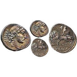 Roman Republic, AR denarius, C. Vibius C.F. Pansa, 90 BC, Rome mint.