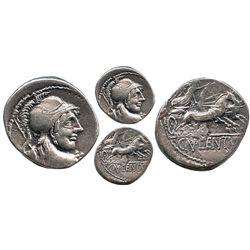 Roman Republic, AR denarius, Cn. Lentulus Clodianus, 88 BC, Rome mint.
