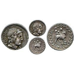 Roman Republic, AR denarius, Mn. Fonteius CF, 85 BC, Rome mint.