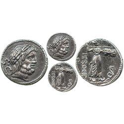 Roman Republic, AR denarius, L. Procilius, 80 BC, Rome mint.
