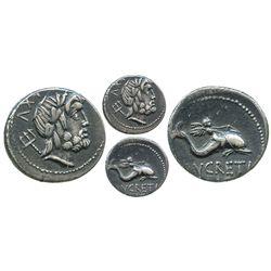 Roman Republic, AR denarius, L. Lucretius Trio, 76 BC, Rome mint.