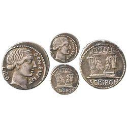 Roman Republic, AR denarius, L. Scribonius Libo, 62 BC, Rome mint.