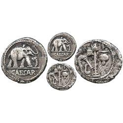 Roman Republic, AR denarius, Julius Caesar, post-49 BC, Rome mint (military mint traveling with Caes
