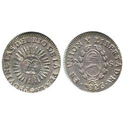 Argentina (La Rioja mint), 2 soles, 1826-RA, no P, medal alignment, ex-Dana Roberts, encapsulated AN