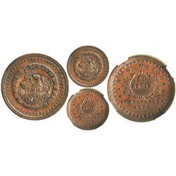 Buenos Aires, Argentina (National Bank), copper 10 decimos, 1830, encapsulated NGC AU 53 BN.