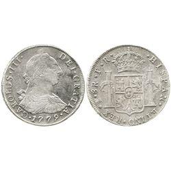 Potosi, Bolivia, bust 8 reales, Charles III, 1779PR.