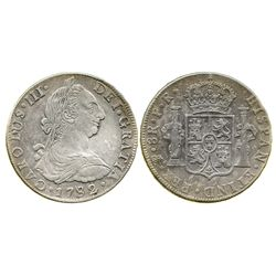 Potosi, Bolivia, bust 8 reales, Charles III, 1782PR.