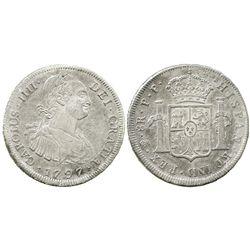 Potosi, Bolivia, bust 8 reales, Charles IV, 1797PP.