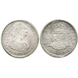 Potosi, Bolivia, bust 8 reales, Charles IV, 1798PP.