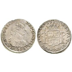 Potosi, Bolivia, bust 4 reales, Charles III, 1774JR.