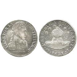 Potosi, Bolivia, 8 soles, 1831JL.