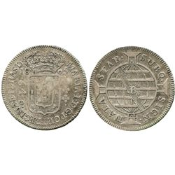 Brazil (Bahia mint), 640 reis, 1805-B, key date.