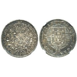Brazil (Rio mint), 320 reis, 1820-R, encapsulated NGC AU 58.