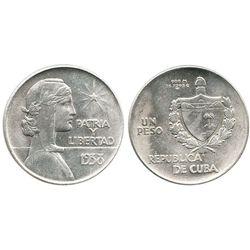 """Cuba, """"ABC"""" peso, 1938."""