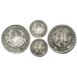 Quito, Ecuador, 2 reales, 1836FP.