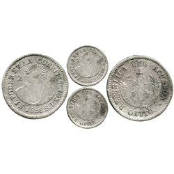 Quito, Ecuador, 2 reales, 1838ST, rare.