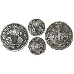 Quito, Ecuador, 2 reales, 1840MV, inverted A for V in assayer.