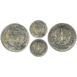 Quito, Ecuador, 1 real, 1834GJ.