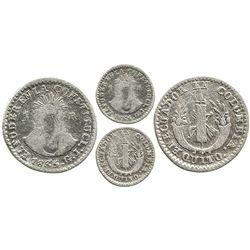 Quito, Ecuador, 1 real, 1835GJ, EL ECUADOR EN COLOMBIA, rare.