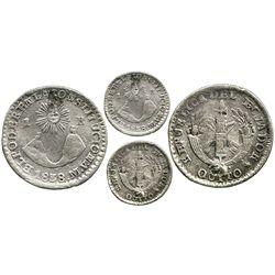 Quito, Ecuador, 1 real, 1838MV, rare.