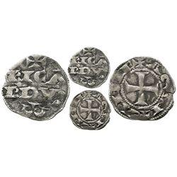 "Anglo-Gallic Aquitaine, France, denier, Richard I ""lionheart"" (1169-85), RICARDVS on obverse, cross"