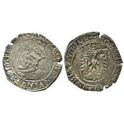 Franche-Comte (Besancon), Burgundy, France, Philip II of Spain (1555-1598), billon carolus, 1594, Do