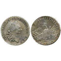 Prussia, German States, reichsthaler, 1784-A.