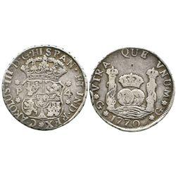 Guatemala, pillar 4 reales, Charles III, 1770P.