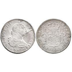 Guatemala, bust 8 reales Charles III, 1773P, rare.