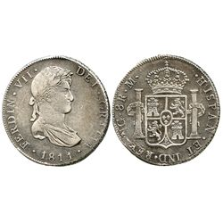 Guatemala, bust 8 reales, Ferdinand VII, 1811M.