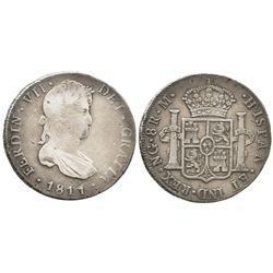 Guatemala, bust 8 reales  Ferdinand VII, 1811M.