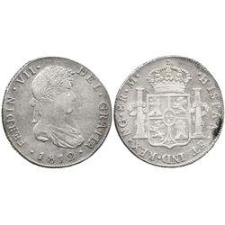 Guatemala, bust 8 reales  Ferdinand VII, 1812M.