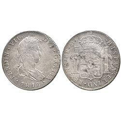 Guatemala, bust 8 reales  Ferdinand VII, 1813M.