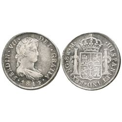 Guatemala, bust 8 reales  Ferdinand VII, 1814M.