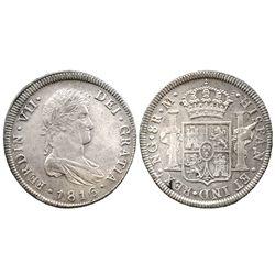 Guatemala, bust 8 reales  Ferdinand VII, 1816M.