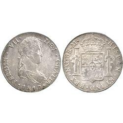 Guatemala, bust 8 reales  Ferdinand VII, 1817M.