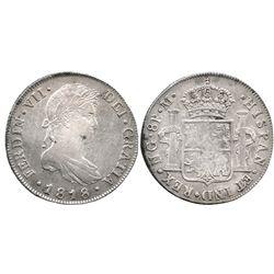 Guatemala, bust 8 reales  Ferdinand VII, 1818M.