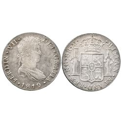 Guatemala, bust 8 reales  Ferdinand VII, 1819M.