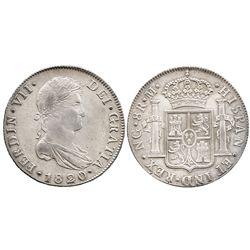 Guatemala, bust 8 reales  Ferdinand VII, 1820M.