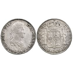 Guatemala, bust 8 reales  Ferdinand VII, 1821M.