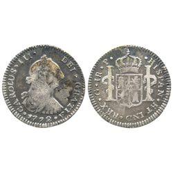 Guatemala, bust 1 real, Charles III, 1772P.