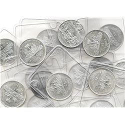 Haiti: Lot of 100 Haitian proof 25 gourdes, 1974, US bicentennial, error without country name