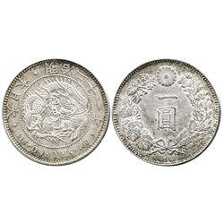 Japan, 1 yen, Meiji era, year 45 (1912).