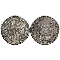 Mexico City, Mexico, pillar 8 reales, Phillip V, 1740MF.