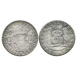 Mexico City, Mexico, pillar 8 reales, Ferdinand VI, 1749MF.