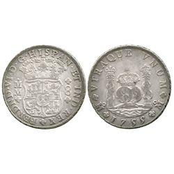 Mexico City, Mexico, pillar 8 reales, Ferdinand VI, 1755MM.
