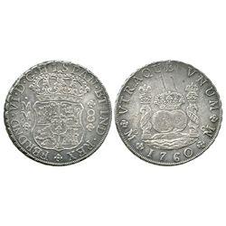 Mexico City, Mexico, pillar 8 reales, Ferdinand VI, 1760MM.