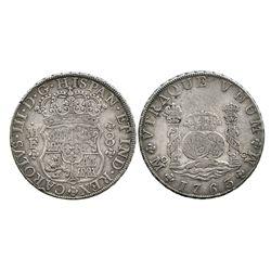 Mexico City, Mexico, pillar 8 reales, Charles III, 1763MM.
